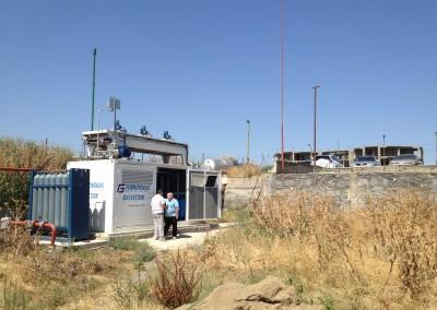 Metan yanacaqdoldurma) üçün bir fabrikdə mobil qaz doldurma stansiyası